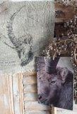Paneel  van kalkverf 'steenbok'_3